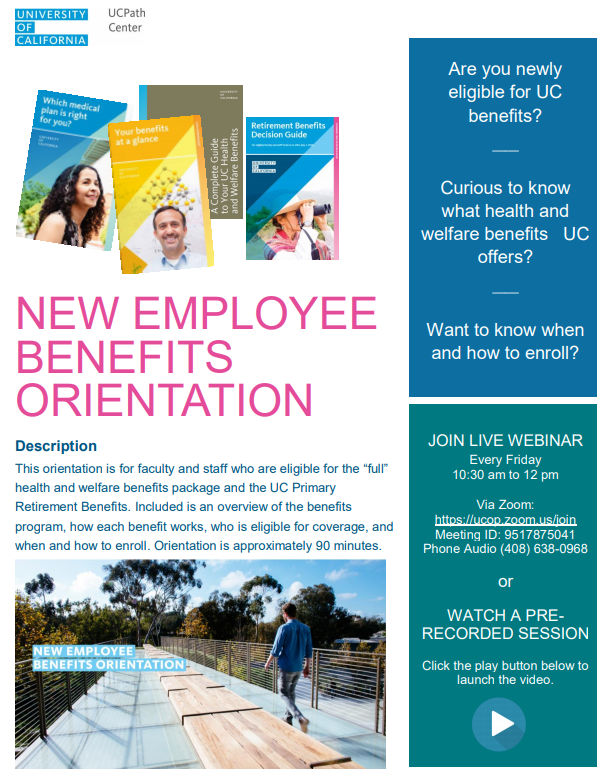 Image of University of California Benefits Webinar flyer