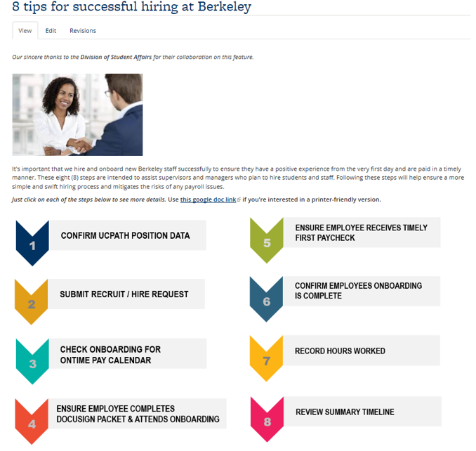 Eight tips for successful hiring at Berkeley