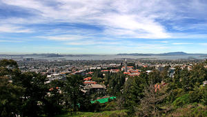 Berkeley campus - panoramic image